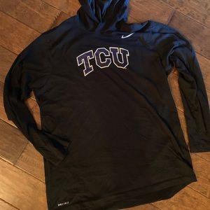 TCU Nike pullover with hood